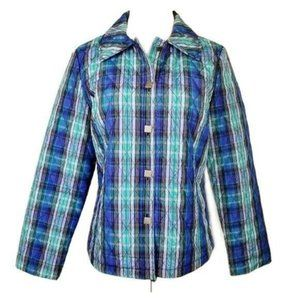 RQT Blue Plaid Quilted Lined Jacket M